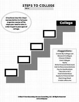 Steps to College Worksheet