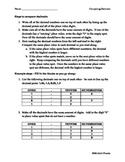 Steps to Compare Decimals Handout