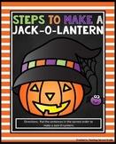 Steps to Make a Jack-O-Lantern Center