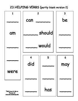 Steps to Memorizing 23 Helping Verbs