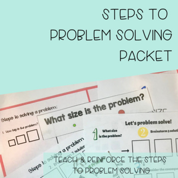 Steps to Problem Solving Packet