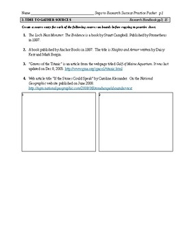 Steps to Research Success Practice Packet