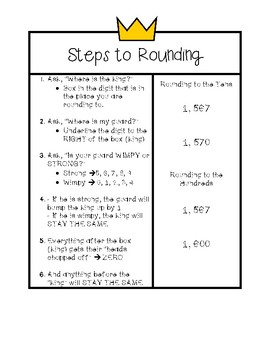 Steps to Rounding Poster
