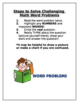 Steps to Solve Challenging Math Word Problems