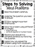 Steps to Solve Word Problems
