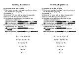 Steps to Solving Equations (ELL)