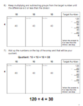 Steps to Solving Partial Quotient on Open Array