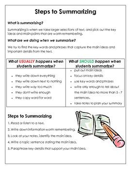 Steps to Summarizing Reference Sheet
