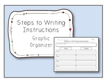 Graphic Organizer - Steps to Writing Instructions