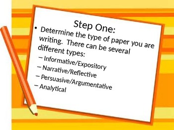Steps to Writing a Paper