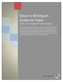 Steps to Writing an Academic Paper