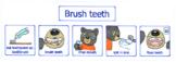 Steps to brushing teeth