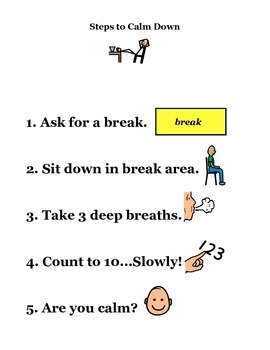 Steps to calm down