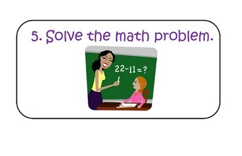 Steps to Solve Math Problems Mini Poster Set