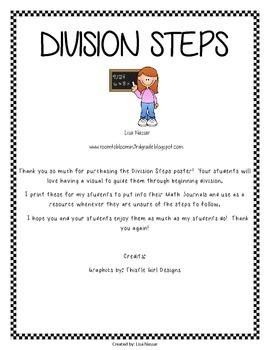 Steps to solving a Division problem