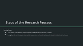Steps to the Research Process PPT