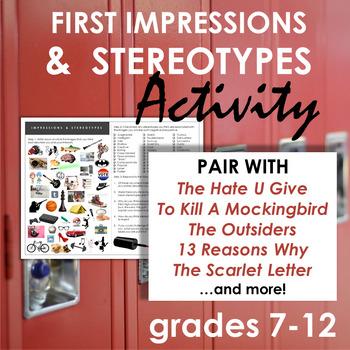 Stereotypes Activity Handout - A Creative Way to Address Prejudice, Grades 7-12