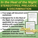 In the Heat of the Night: Stereotypes, Racism & Prejudice - Graphic Organizer