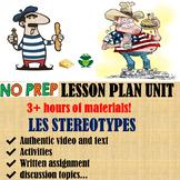 Stereotypes francais french lesson culture entire unit + IPA defis mondiaux