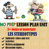 Stereotypes francais french lesson culture entire unit + I