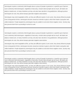 Stereotyping article- Goes with .ppt Stereotyping Power Point acitvity