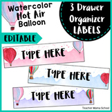 Sterilite 3-Drawer Labels | EDITABLE { Hot Air Balloon }