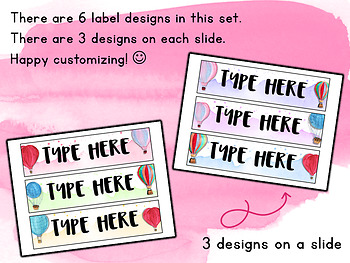Sterilite 3-Drawer Labels | EDITABLE { Hot Air Balloon }