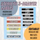 Sterilite 3-Drawer Labels - Regular and Mini Size    Modern Rainbow   EDITABLE