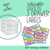 Sterilite Bright Labels - Editable