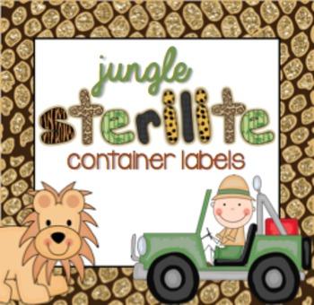 Sterilite Container Templates { Jungle Zoo Theme }