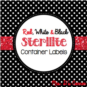 Sterilite Container Templates { Red White and Black Theme }