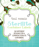 Sterilite Container Templates { Teal Mosaic }