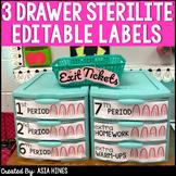 Sterilite Countertop Medium Turn In Bin Drawer Labels - Cactus Themed