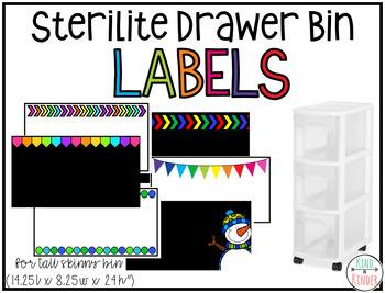 Sterilite Drawer Bin {Narrow Tall Skinny 3 Drawer} Labels **EDITABLE**