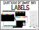 Sterilite Drawer Bin {Narrow Tall Skinny 3 Drawer} Labels