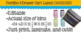 Sterilite Drawer Cart Labels (Editable) 14X12X25