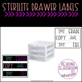 Sterilite Drawer Labels