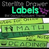 Sterilite Drawer Labels   BW Cactus Theme