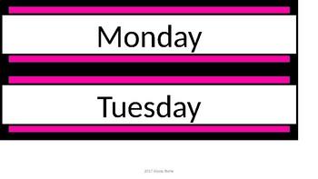 Sterilite Drawer Labels - Black & Pink