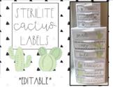 Sterilite Drawer Labels- Black & White- Cactus- Editable!