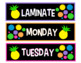 Sterilite Drawer Labels -- Black and Neon Pineapples