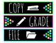 Sterilite Drawer Labels - Colorful