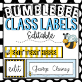 Editable Labels   Sterilite Drawers   Bumblebee Class Theme Decor