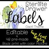 Sterilite Drawer Labels | Cactus Theme