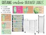 Editable Drawer Labels - Cactus