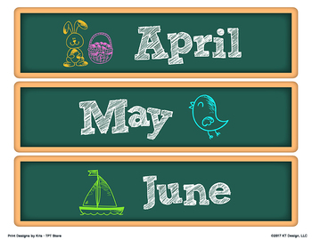 Sterilite Drawer Labels - DAYS and MONTHS - Chalkboard Design Style