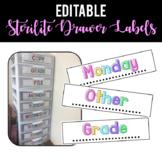 Sterilite Drawer Labels [EDITABLE]