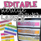 Sterilite Drawer Labels | EDITABLE