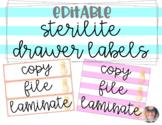 Sterilite Drawer Labels EDITABLE - Preppy Pineapple Theme