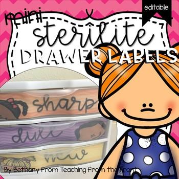 Sterilite Mini Drawer Labels | Editable